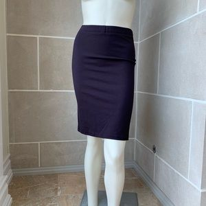Jil Sander Plum Stretch Skirt